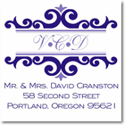 Name Doodles - Square Address Labels/Stickers (Richmond Iris)